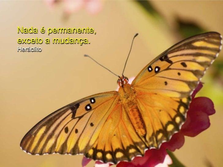 Nada é permanente, exceto a mudança.<br />Heráclito<br />