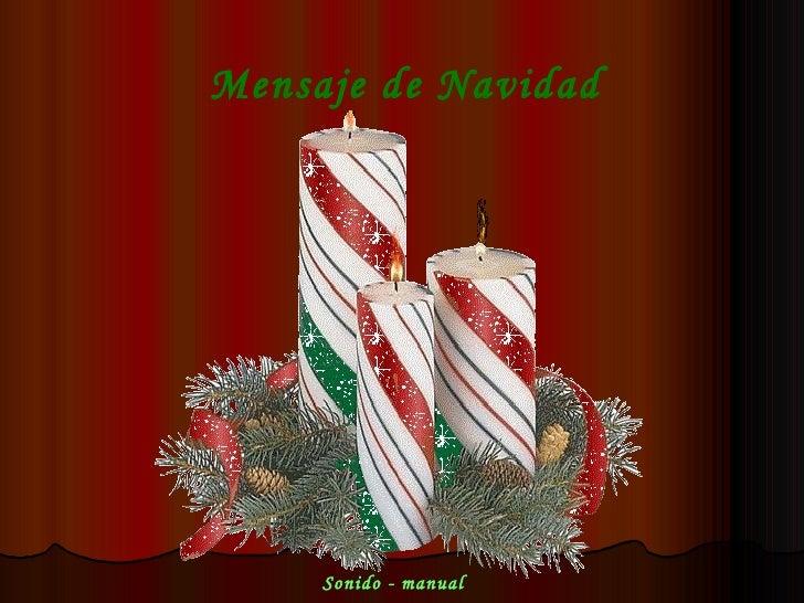 Mensaje de Navidad Sonido - manual