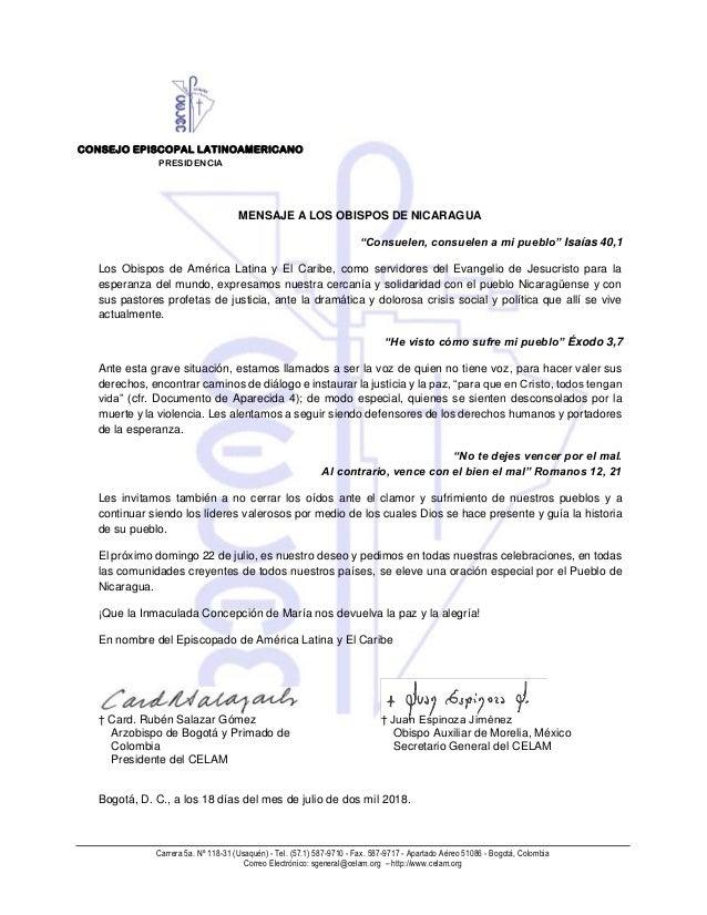 Carrera 5a. Nº 118-31 (Usaquén) - Tel. (57.1) 587-9710 - Fax. 587-9717 - Apartado Aéreo 51086 - Bogotá, Colombia Correo El...