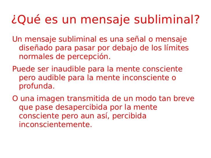 Mensajes Subliminales Slide 2