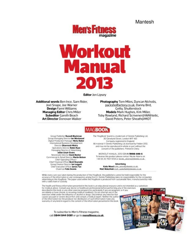 Mens Fitness Workout Manual Your Guide To Building Muscle And Burning Fat 2013