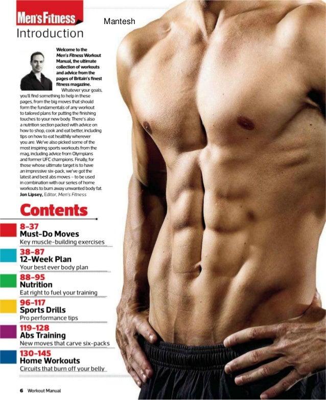 Mens Fitness Workout Manual Your Guide To Building Muscle And Burn