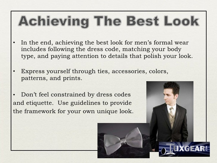 Mens Formal Wear Style Fit And Occasion
