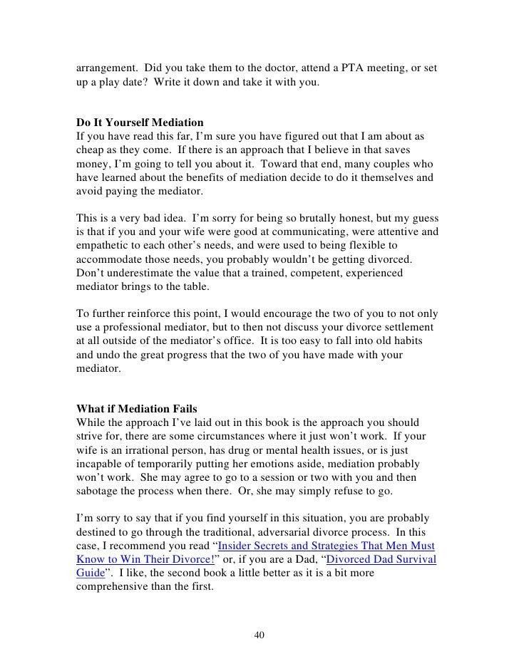 Mens guide to a smooth divorce 41 arrangement solutioingenieria Images