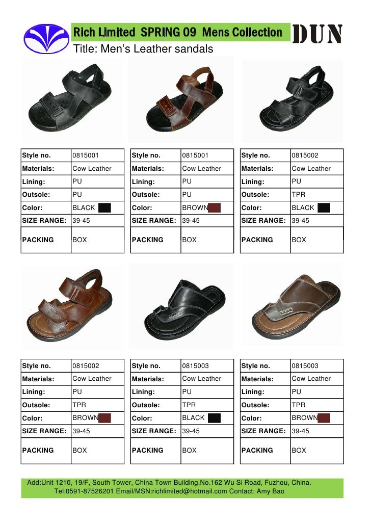Rich Limited SPRING 09 Mens Collection                Title: Men's Leather sandals                   0815001              ...