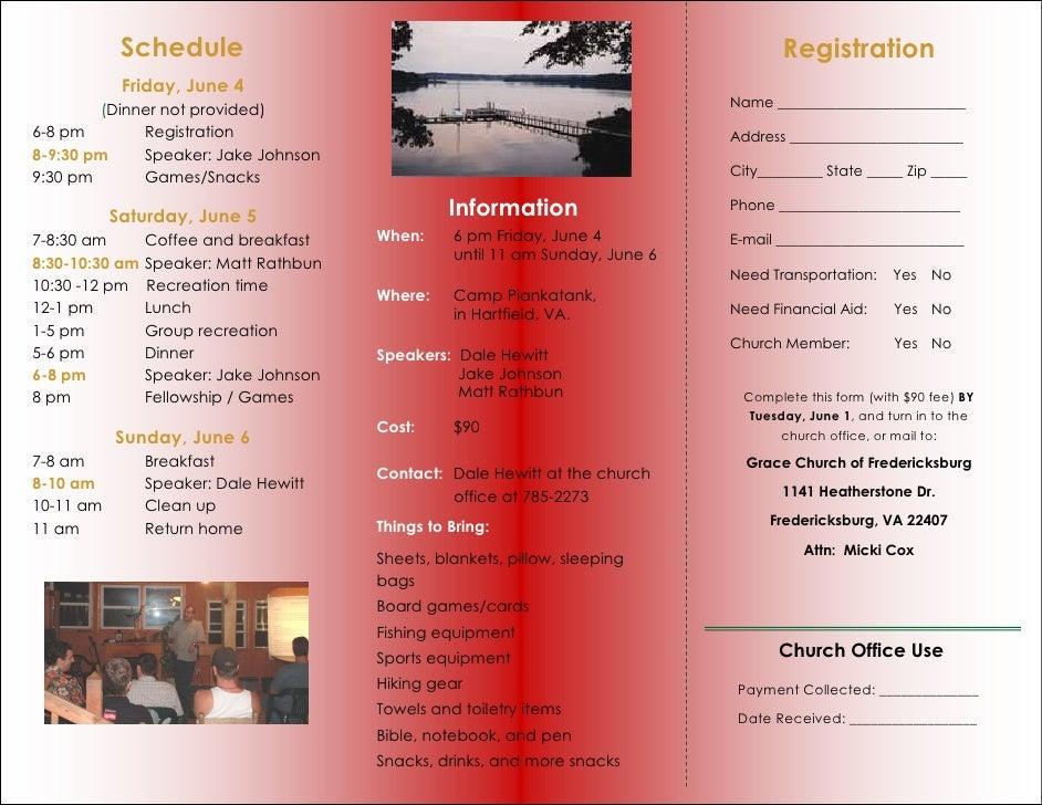 grace church mens retreat brochure 2010