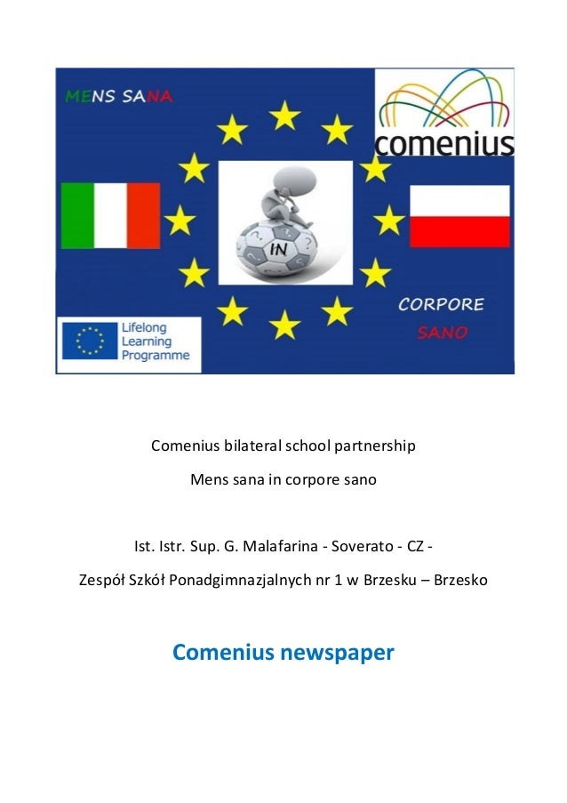 Comenius bilateral school partnership Mens sana in corpore sano Ist. Istr. Sup. G. Malafarina - Soverato - CZ - Zespół Szk...