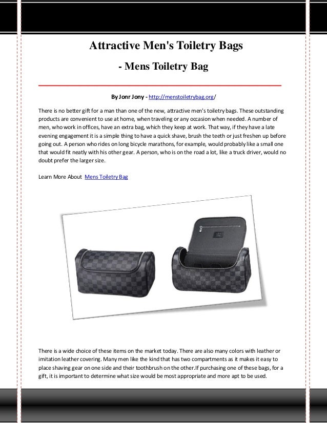Attractive Men's Toiletry Bags - Mens Toiletry Bag _______________________________________________________________________...