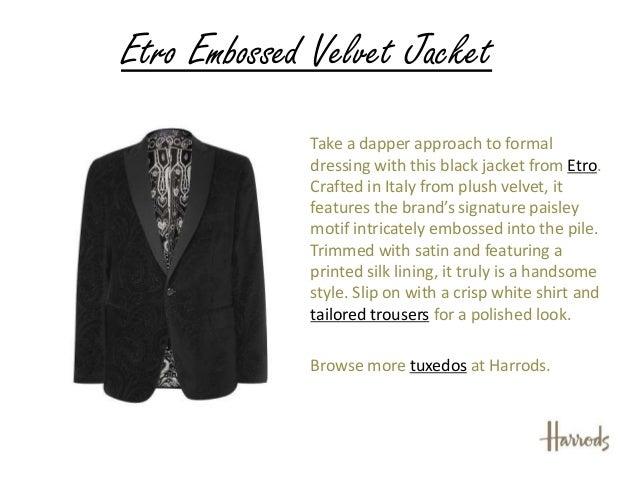 single button dinner jacket. Harrods of London