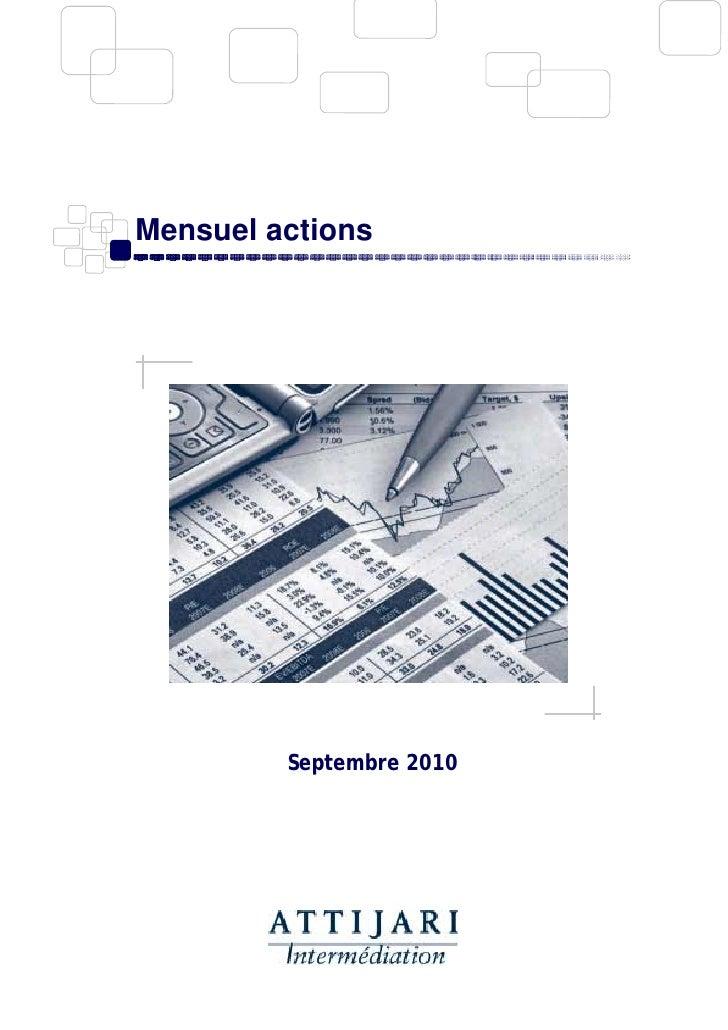 Mensuel actions              Septembre 2010