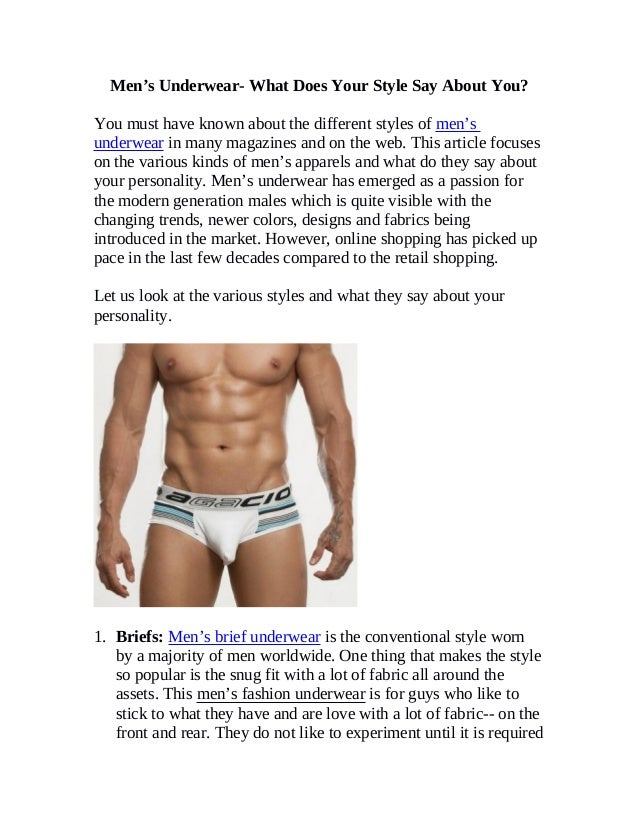 174b3432699 Men's Underwear- What Does Your Style Say About You?