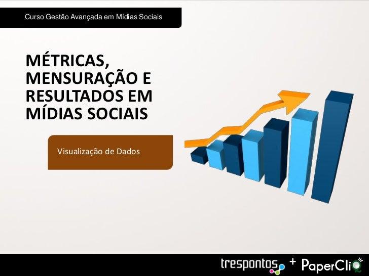 Curso Gestão Avançada em Mídias SociaisMÉTRICAS,MENSURAÇÃO ERESULTADOS EMMÍDIAS SOCIAIS         Visualização de Dados     ...