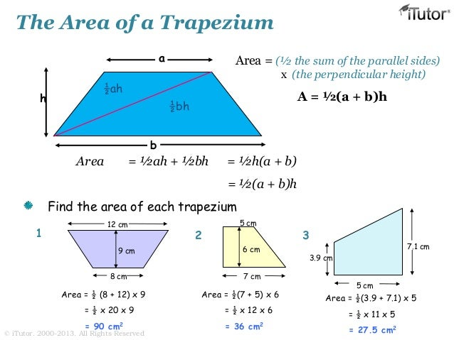 how to find the surface area of a trapezoid
