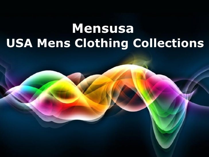 MensusaUSA Mens Clothing Collections                        Page 1