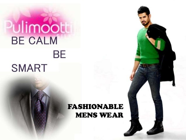 FASHIONABLE MENS WEAR BE CALM BE SMART