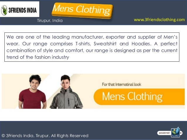 Mens wear, ladies wear, kids wear manufacturer Tirupur