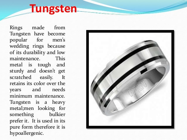 6 Tungsten Rings Made From Have Become Popular For Mens Wedding