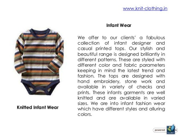 Knitting Wear Manufacturers : Knitted clothing manufacturers