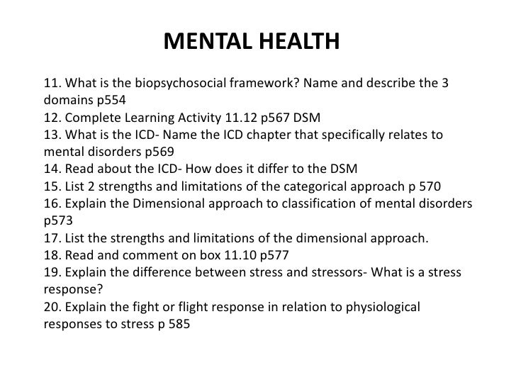 mental health dissertation questions Categories and list of dissertation titles 21 mental health nursing  looking for dissertation topics - the writepass journal : the writepass journal | august 9 .