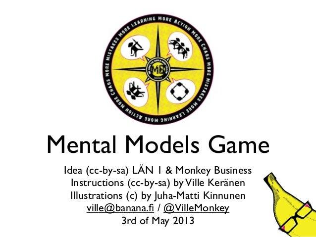 Mental Models GameIdea (cc-by-sa) LÄN 1 & Monkey BusinessInstructions (cc-by-sa) byVille KeränenIllustrations (c) by Juha-...