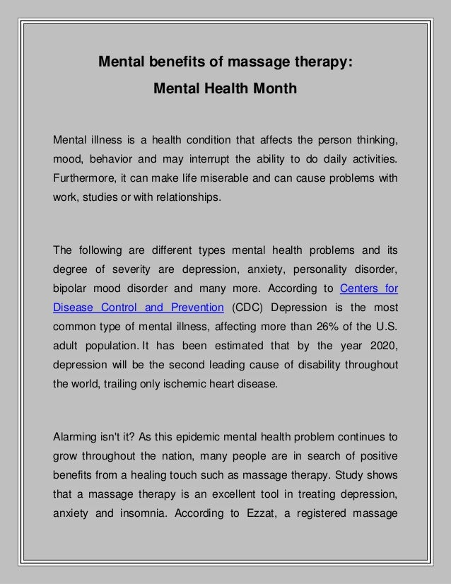 mental health benefits