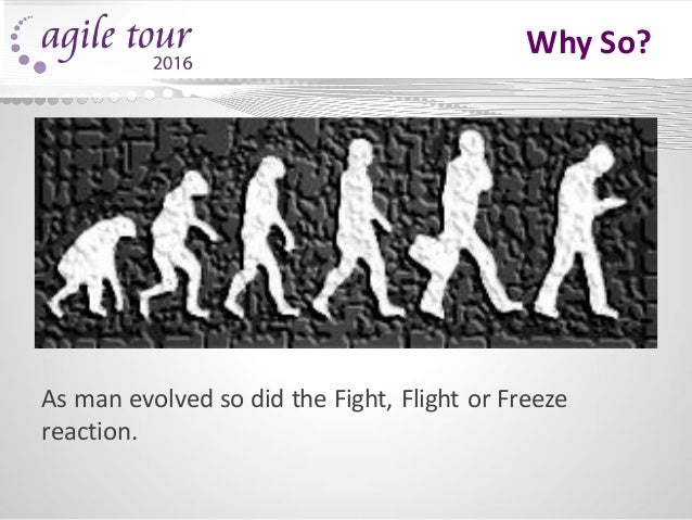 Why So? As man evolved so did the Fight, Flight or Freeze reaction.