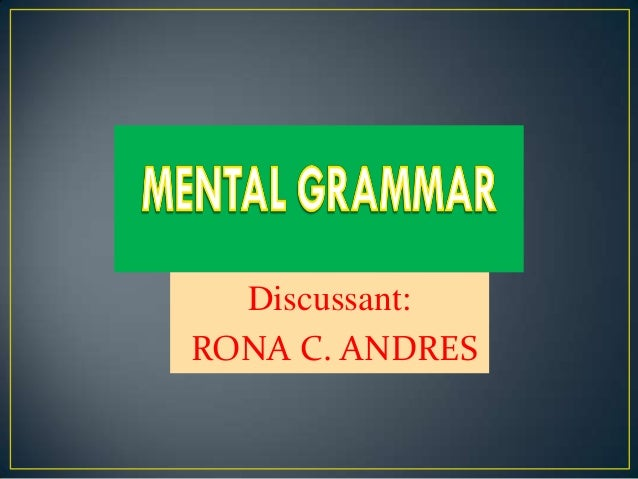 Discussant:RONA C. ANDRES
