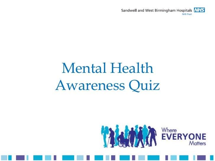 Mental Health Awareness Quiz