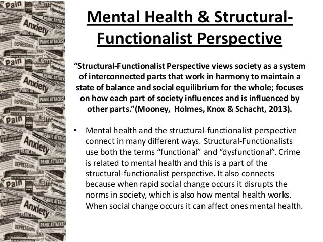functionalist view society The functionalist perspective's idea is quite simple it is that, as the human body system works, the institutions in the society works interdependently for the proper functioning of the whole the whole being the entire society.