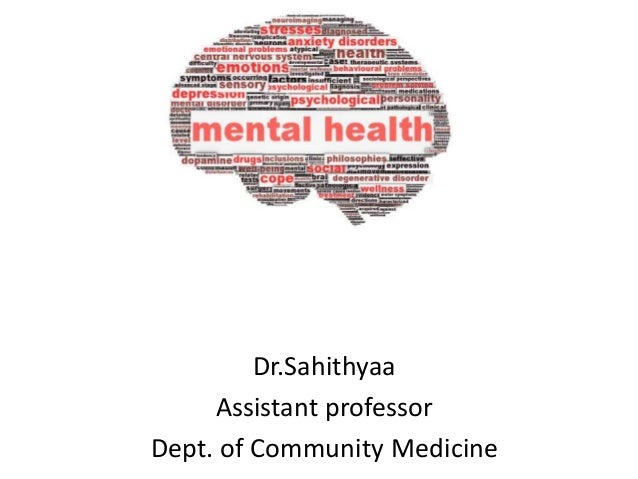 Dr.Sahithyaa Assistant professor Dept. of Community Medicine