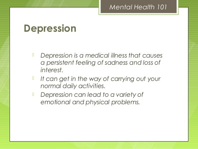 Mental health 101 blueprint conference mental health 101depression malvernweather Image collections