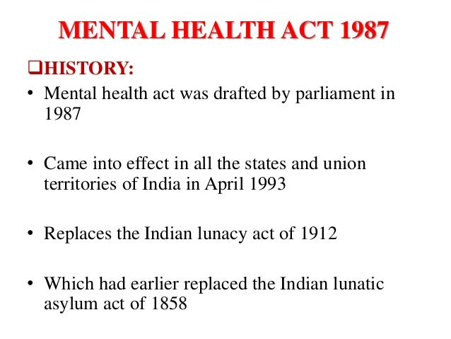 the mental health act essay You might want to look at this tension in the context of personality disorders  remember also that the mental health act 1983 previously stated that no-one.