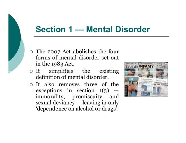 strengths and weaknesses of the mental health act