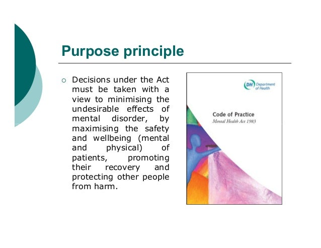 Purpose principle   Decisions under the Act    must be taken with a    view to minimising the    undesirable effects of  ...