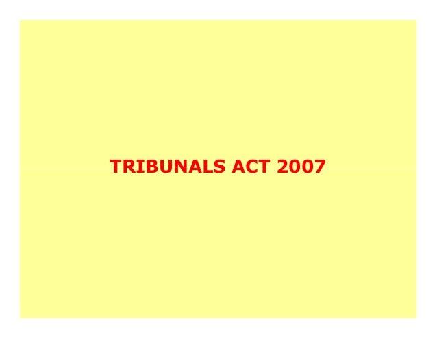 TRIBUNALS ACT 2007