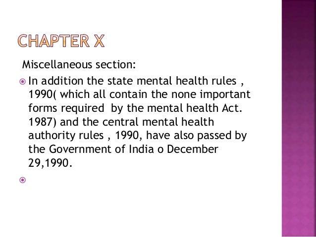 mental health act india 1987 pdf