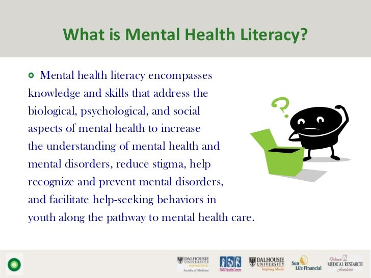 the impact of mental health literacy Behavioral health equity resources the abc's about the impact of literacy on this national report presents a set of substance use and mental health.