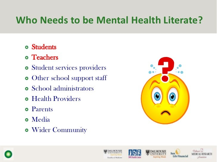 School Mental Health Literacy The Foundation For Youth Mental Health
