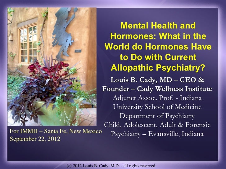 Mental Health and                                           Hormones: What in the                                         ...