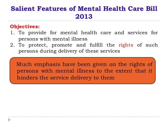 Mental health care bill kochi 2014 Slide 2