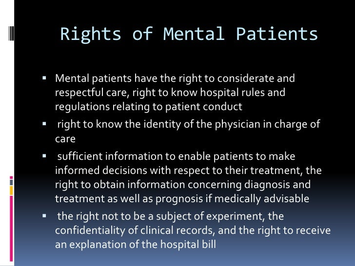 mental health patient rights