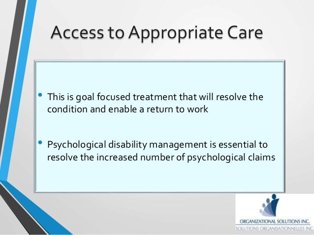 disability management return to work plans Disability management for non-occupational injuries/illnesses  a disability management return-to-work  employment plans for certain.