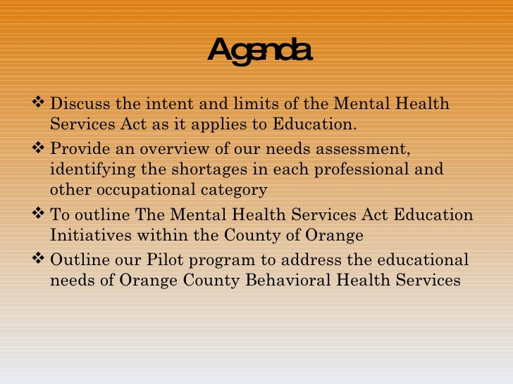 Career Pathways Through The Mental Health Services Act