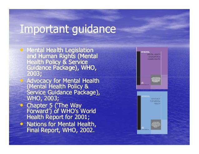 Mental health laws international principles and ...