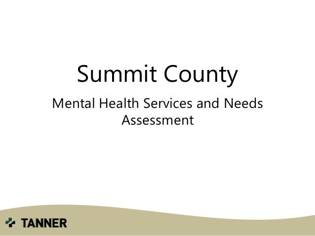 Summit County Mental Health Services and Needs Assessment
