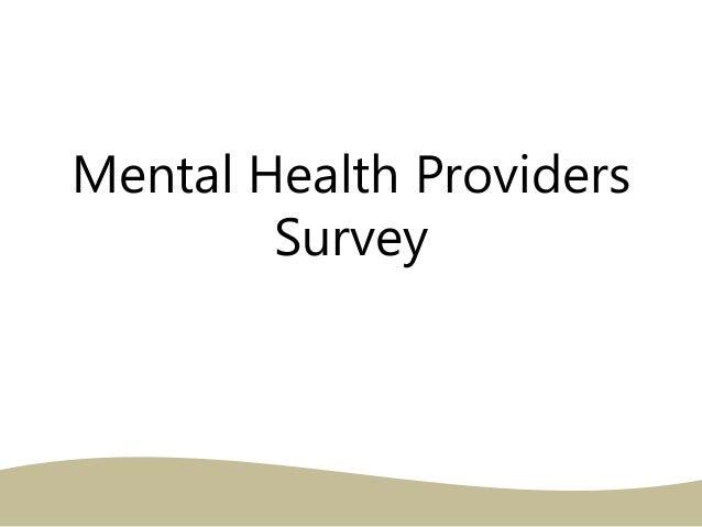 Mental Health Providers Survey