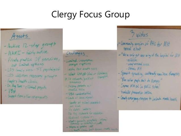 Clergy Focus Group