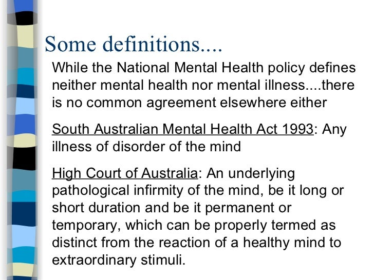 analysis of australias mental health policy An analysis of the 1992 australian national mental health policy and other  relevant policy documents this presentation was completed in.