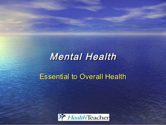 mental health powerpoint presentation