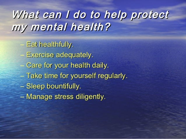activities to do with mental health patients